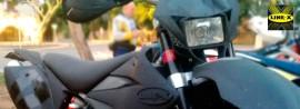 Recubrimiento técnico LineX en motocicleta